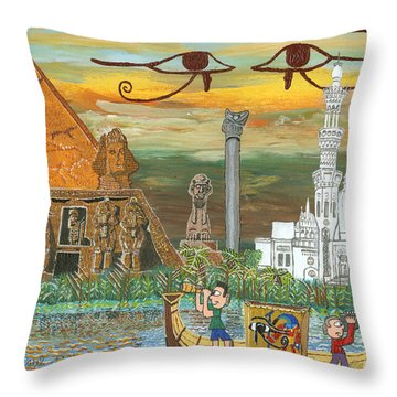 Egypt   Jan Throw Pillow