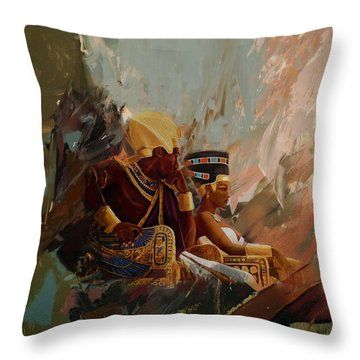 Egyptian Culture 44b Throw Pillow