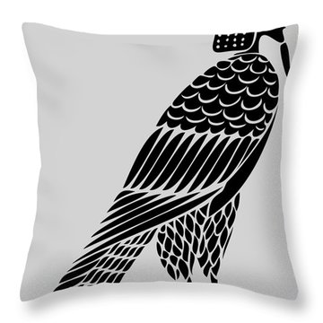 Egyptian Demon - Bird Of Souls Throw Pillow