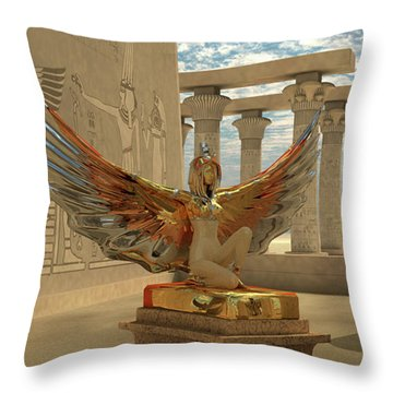 Egyptian God Isis Throw Pillow