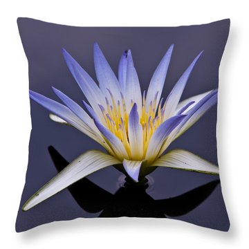Throw Pillow featuring the photograph Egyptian Lotus by Louis Dallara