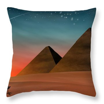 Egyptian Pyramids Throw Pillow
