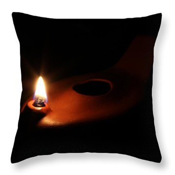 Egyptian Style Lamp - Terracotta 1 Throw Pillow