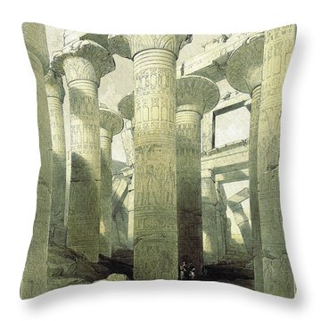 Egyptian Temple No 3 Throw Pillow