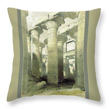 Egyptian Temple No 3 Throw Pillow