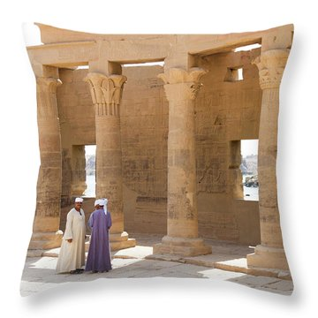 Throw Pillow featuring the photograph Egyptians by Silvia Bruno