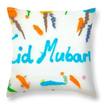 Eid Cake Throw Pillow