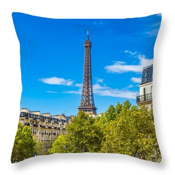 Throw Pillow featuring the photograph Eiffel Around Town by Kim Wilson