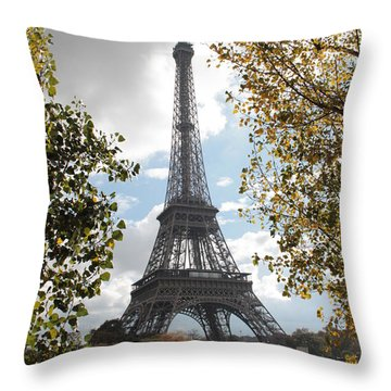 Throw Pillow featuring the photograph Eiffel From Avenue De New York by Christopher Kirby