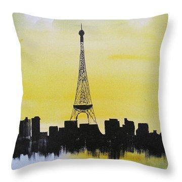 Eiffel Of Paris Throw Pillow by Gary Smith