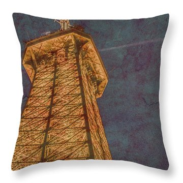 Paris, France - Eiffel Peak Throw Pillow