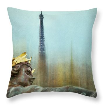 Eiffel Tower 1 Throw Pillow by Marty Garland