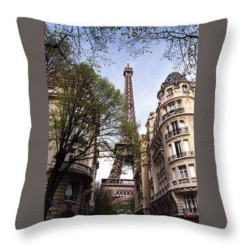 Throw Pillow featuring the photograph Eiffel Tower 2b by Andrew Fare