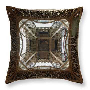 Eiffel Tower Abstract Throw Pillow