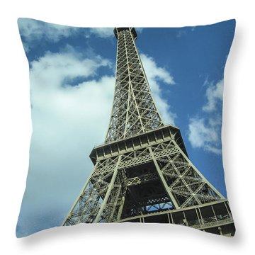 Throw Pillow featuring the photograph Eiffel Tower by Allen Sheffield