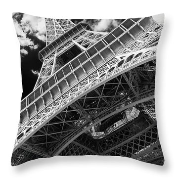 Eiffel Tower Infrared Abstract Throw Pillow