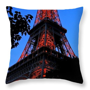 Eiffel Tower Throw Pillow by Juergen Weiss