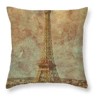 Paris, France - Eiffel Tower Throw Pillow