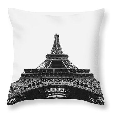 Throw Pillow featuring the photograph Eiffel Tower Perspective  by MGL Meiklejohn Graphics Licensing