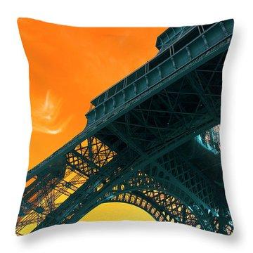 Eiffel Tower Pop Art Throw Pillow