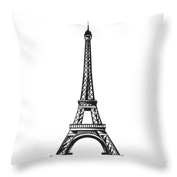Eiffel Tower Up Throw Pillow by Stanley Mathis