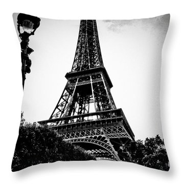 The Eiffel Tower With Vignetting Throw Pillow by Micah May