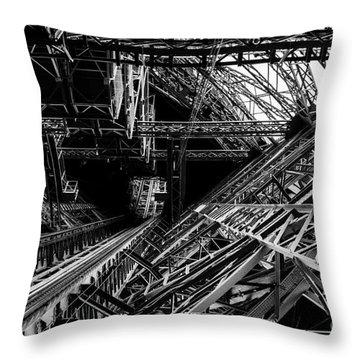 Eiffel Tower Throw Pillow by M G Whittingham