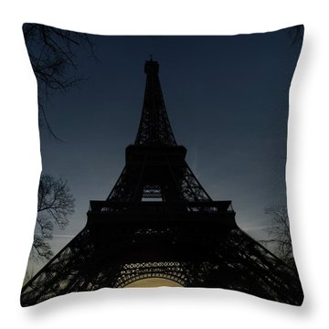 Eiffeltower At Sundown Throw Pillow by Erik Tanghe