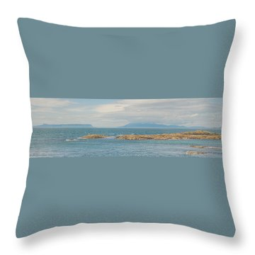 Eigg And Rum Throw Pillow