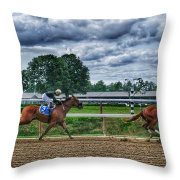 Eight Gaining Throw Pillow