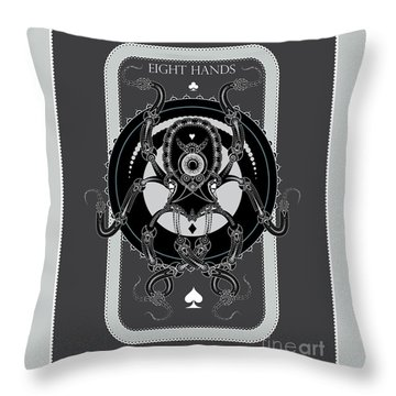 Eight Hands Throw Pillow