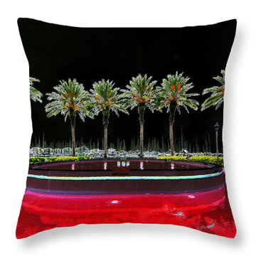 Eight Palms Drinking Wine Throw Pillow by David Lee Thompson