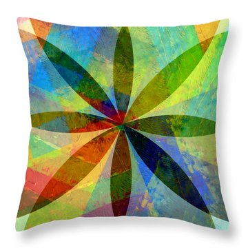 Throw Pillow featuring the painting Eight Petals by Michelle Calkins