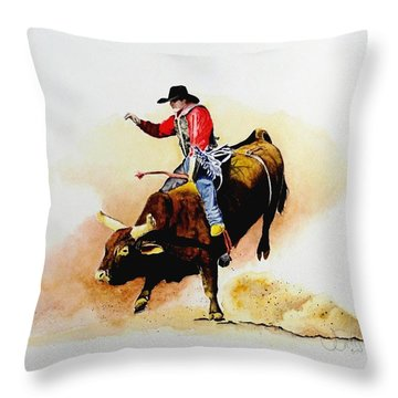 Eight Second Shift Throw Pillow by Jimmy Smith