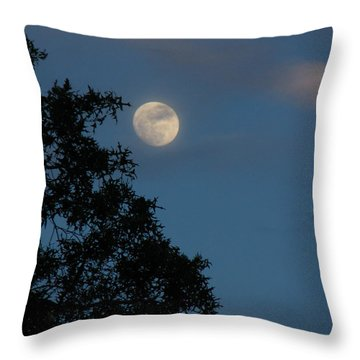 Throw Pillow featuring the photograph Eight Thirty Two Pm by Greg Patzer