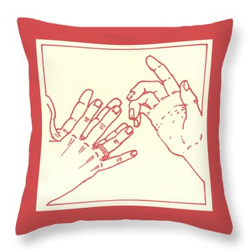 Throw Pillow featuring the drawing Eighth Station- The Women Of Jerusalem Weep Over Jesus  by William Hart McNichols