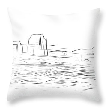 Eilean Donan Castle Digital Art Throw Pillow