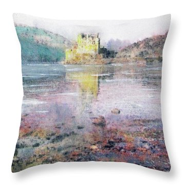 Eilean Donan Castle  Throw Pillow by Richard James Digance
