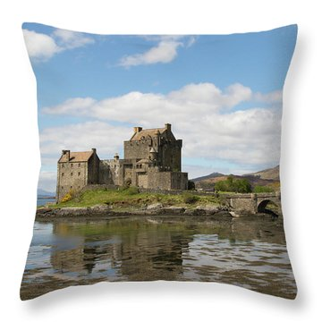 Throw Pillow featuring the photograph Eilean Donan Castle - Scotland by Karen Van Der Zijden