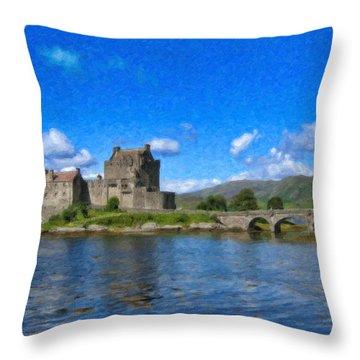 Eilean Donan Castle - Sct671252 Throw Pillow