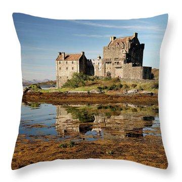 Throw Pillow featuring the photograph Eilean Donan Scotland by Grant Glendinning