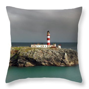 Throw Pillow featuring the photograph Eilean Glas Lighthouse by Grant Glendinning