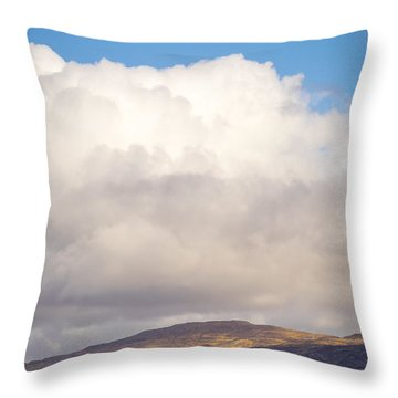 Eilean Musdile Lighthouse On Lismore Throw Pillow