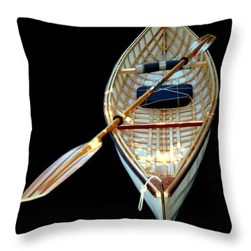 Eileen's Canoe Throw Pillow