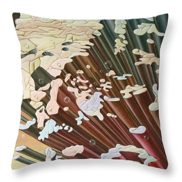 Einstein And The Theory Of The Big Bang Throw Pillow