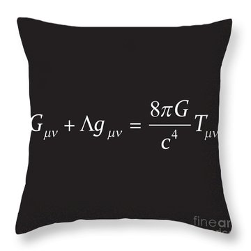 Einstein Field Equation Formula Throw Pillow