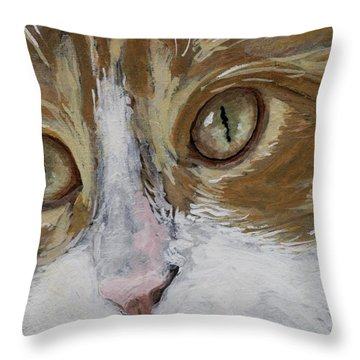 Throw Pillow featuring the painting Einstein by Mary-Lee Sanders