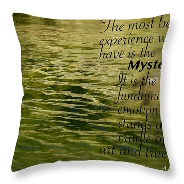 Einstein Mysterious Throw Pillow