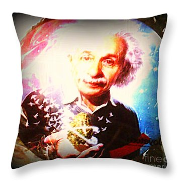 Einstein On Pot Throw Pillow