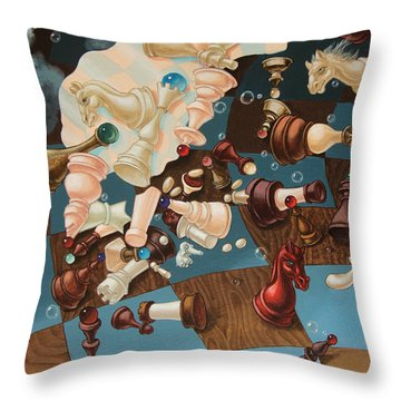Einstein, Who Did Not Know How To Play Chess. Throw Pillow